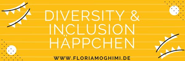 Gelbes Banner für den Diversity & Inclusion Häppchen Infobrief