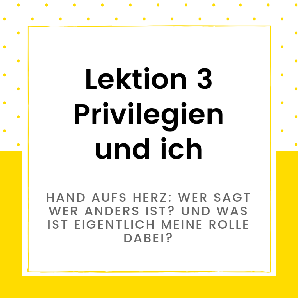 Onlinekurs Diversity Lektion 3